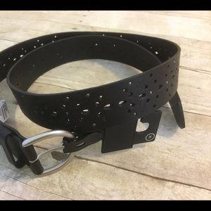 Black Silver Cut Out Belt XL